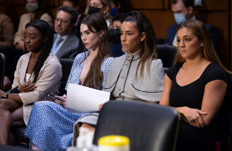 Simon Piles and other gymnasts who were sexually abused were harshly critical of the FBI and sports officials