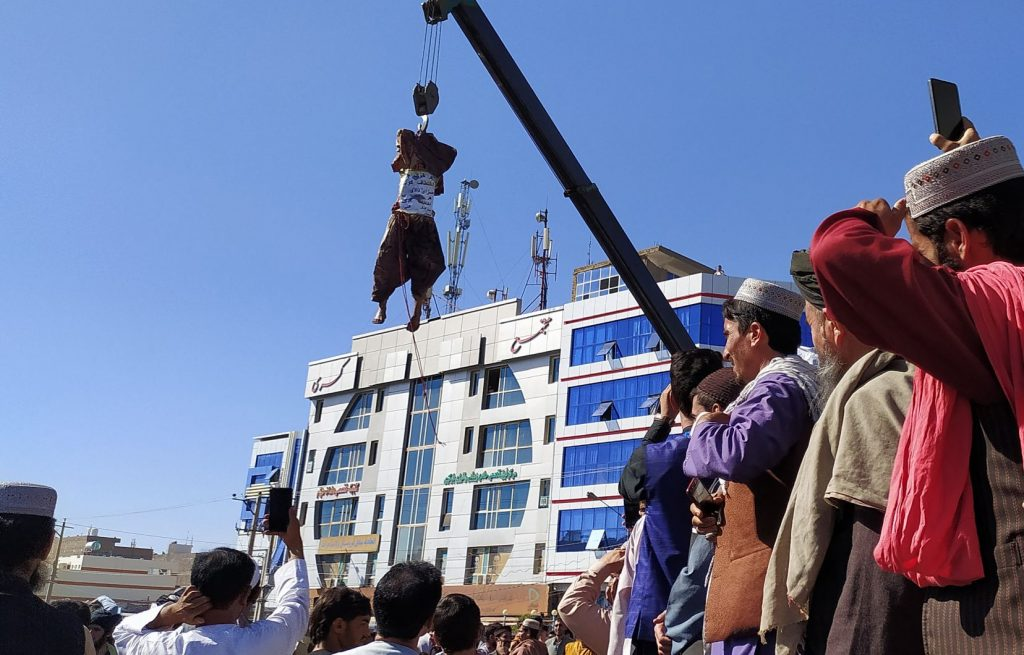 The Taliban publicly hanged back in Afghanistan