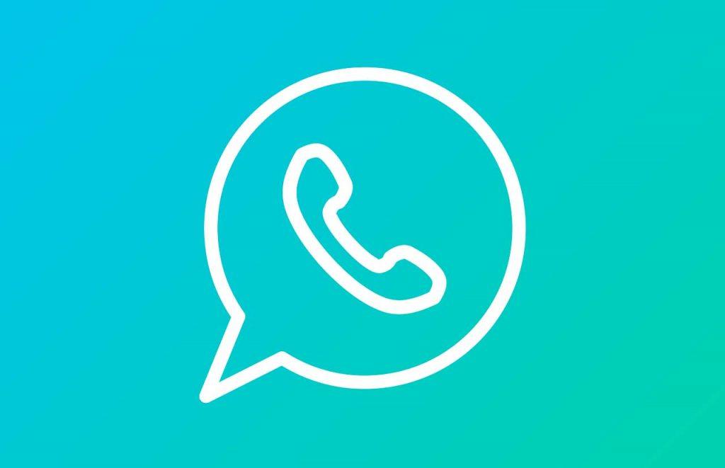 Le logo de WhatsApp sur fond dégradé