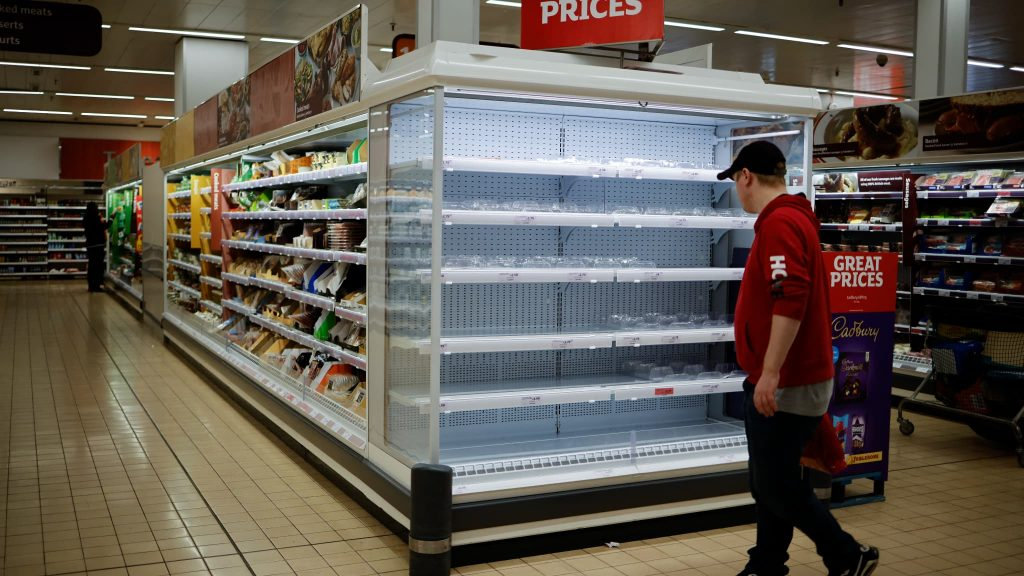 Supermarkets have empty shelves ... filled with chocolate