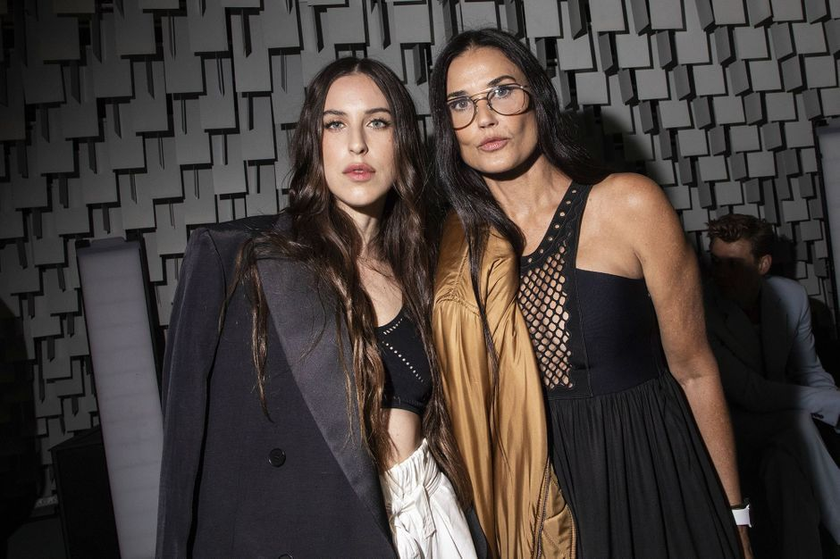 Demi Moore and Scout, mother and daughter looks in Paris