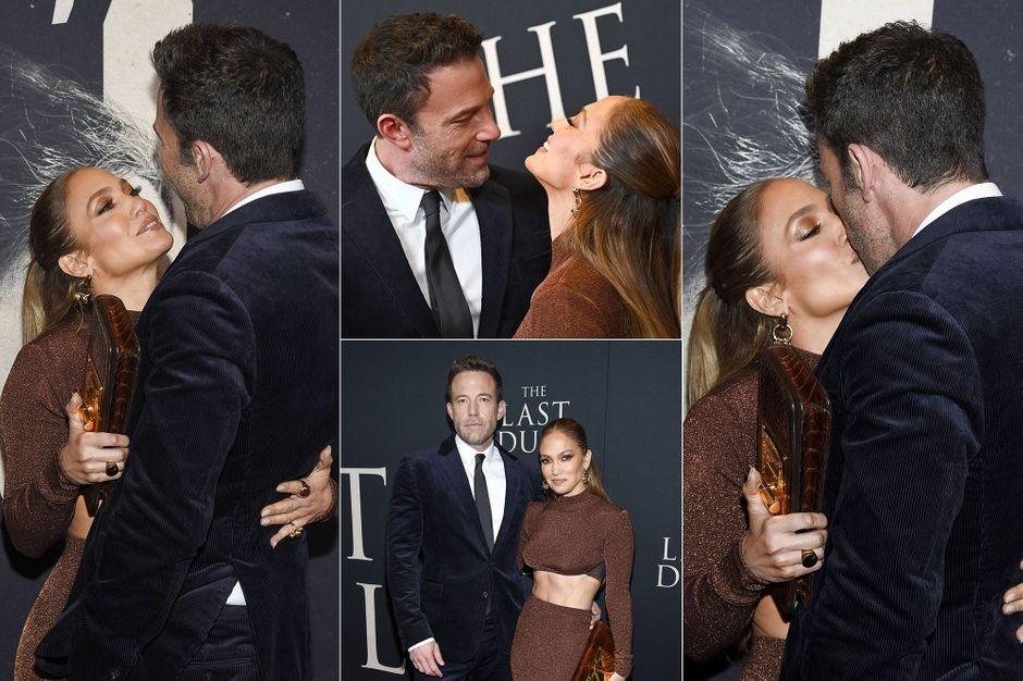 Jennifer Lopez and Ben Affleck bid at the 'Last Duel' premiere