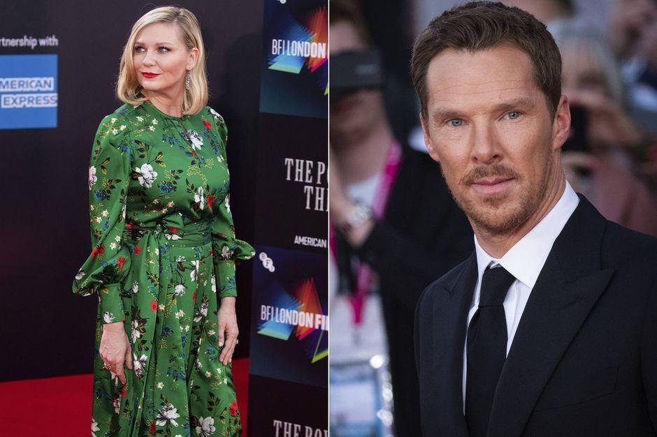 Kirsten Dunst, London red carpet with Benedict Cumberbatch