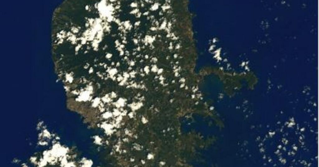 Martinique seen from space by Thomas Bisquet
